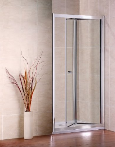 ValueBaths 800mm Wide Bifold Glass Shower Door / Enclosure- Chrome