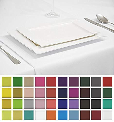 LÄUFER TISCHDECKE TISCHTUCH TISCHWÄSCHE PFLEGELEICHT 40 Farben (Weiß 1, 40x200cm) ()
