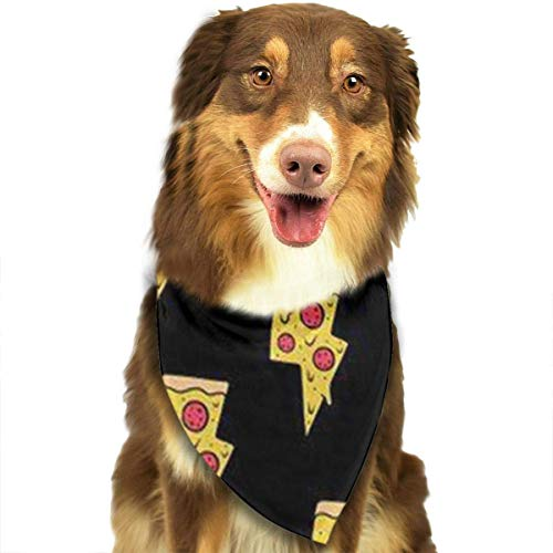 nxnx Dog Bandana Cool Pizza Pet Scarf Triangle Bibs Kerchief Set Pet Costume Accessories Decoration for Small Medium Large Dogs Cats Pets