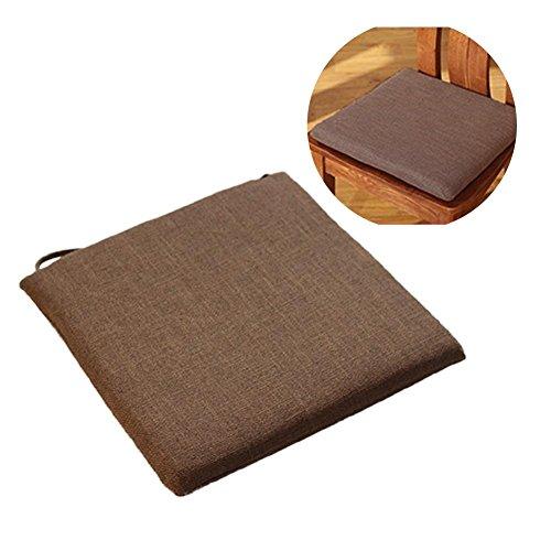Cojín de silla Tatami cojín 45x 45cm, desenfundable transpirable cojín japonés algodón y lino...