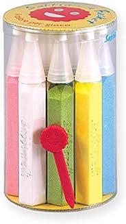 Sabbiarelli Sand-it for Fun - Basket: Kit 12 Penne Ricaricabili di Sabbia Colorata con Spellicolino Incluso, M