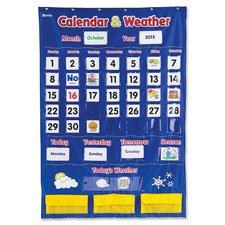 Kalender/Wetter Pocket Chart, 30-3/10,2cm X44-1/10,2cm Multi, verkauft als 1, je 138PRO jeder (4 X 6 Pocket Chart)