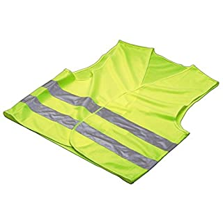 Invero® Neon High Visibility Children's Safety Hi-Vis Vest Waistcoat - Anti-Wrinkle and Washable Ideal for School Field Trips and more