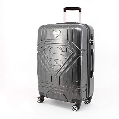 Karactermania Superman S-ABS Trolley Suitcase Koffer, 67 cm, 70 liters, Grau (Grey) Clarks Folien