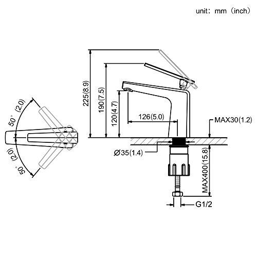 Homelody – Moderne Waschbeckenarmatur, Einhebelarmatur, Keramikkartusche, Perlator, Weiß-Chrom - 6