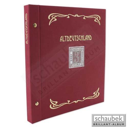 Schaubek Schraubbinder Leinen schmal rot, Reprint-Ausführung Altdeutschland ds0021