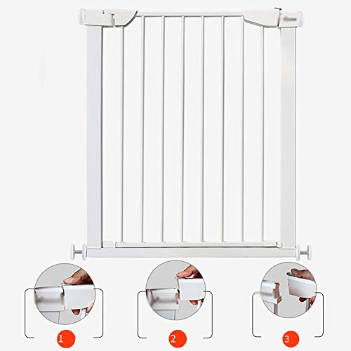 Baby safety gate Extra Tall Pet Gate, Metal Safety Gate, Pressure Mount, Black, High 90cm (Size : 117-124cm)