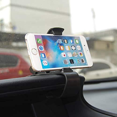 XFZK Autotelefonhalter, 360 drehbare Armaturenbrett Autotelefonhalter 120 Mm Einfach Clip Ständer Halterung Handyhalter Universal Auto Halter