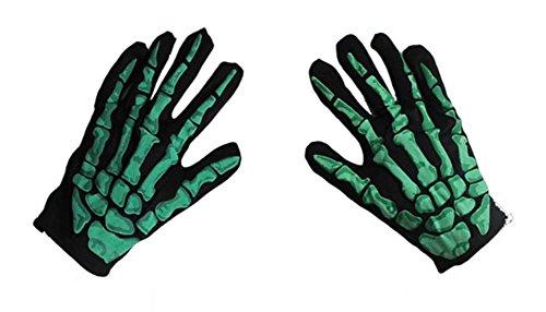 Tag Halloween Zubehör Aprilscherz/Lustige Tricky Requisiten Dekorationen/Maskenspiel/Horror Skeleton Handschuhe-grün