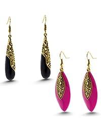 Three Shades Earrings Combo Set Of 2 Designer Earrings For Girls & Women Party Wear, Daily Wear, Office Wear Designer...