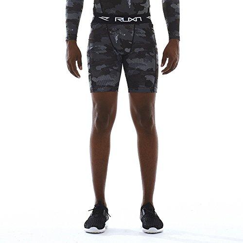 Ruxn Herren Cs020 Kühlen Schnell Trocken Compression Shorts Hose Unterschicht Kompression Shorts Hose Aktivsport (Xl, Grey(Camo)) (Mens Shorts Compression)