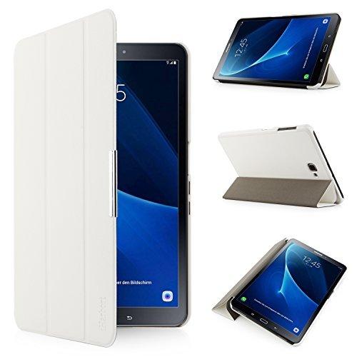 iHarbort Hülle für Samsung Galaxy Tab A 10,1 (SM-T580/T585) Samsung Galaxy Tab A 10.1 hülle Etui Schutzhülle Case Cover Holder Stand mit Smart Auto Wake/Sleep-Funktion (Weiß) - Weiß Tablet
