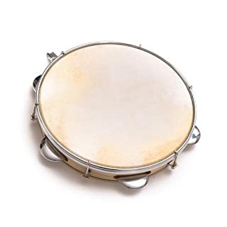 25cm Capoeira Leather Pandeiro Drum Tambourine Samba Brasil Wood Music Instrument 10