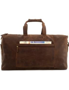 LEABAGS Sydney Reisetasche aus echtem Büffel-Leder im Vintage Look