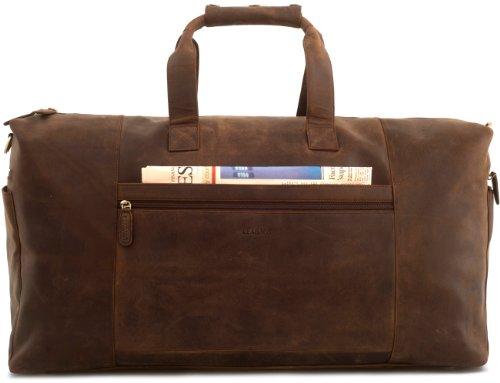 LEABAGS Sydney Reisetasche Handgepäcktasche Sporttasche aus echtem Leder im Vintage Look, (LxBxH): ca. 64 x 25 x 34 cm - Muskat