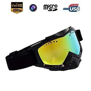 Yonis - Lunettes Caméra Sport Embarquée Masque De Ski Espion Hd 720P Noir - Noir