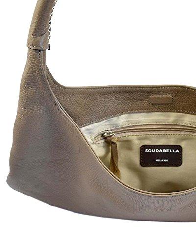 Hobo Bag Leder Schultertasche aus hochwertigem italienischen Leder in verschiedenen Farben. Edel und exklusiv. 100% echtes Leder. Handmade in Milano in einer Familien-Manufactur: City Sunrise Taupe