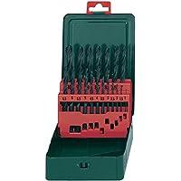 Metabo HSS-R Bohrerkassette, 19-teiliges Spiralbohrer Set nach DIN 338, rollgewalzt / zylindrisch / rechtsschneidend, Typ N, Art.-Nr. 627151000