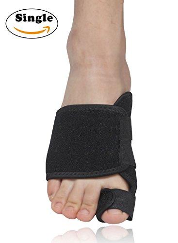 Nlife alluce Bunion toe Straighters correttori piede brace ideale per alluce per alleviare dolori da alluce valgo, borsite del sarto, Big Toe congiunta, Hammer toe, o per dita (singolo), Black