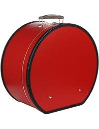 Lierys Hutschachtel Rot für Damen und Herren Hutkoffer Hutbox Transportbox Winter Sommer