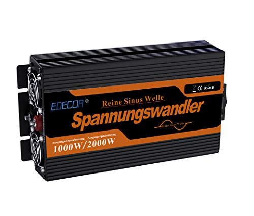EDECOA Power Inverter 12v 220v Onda Pura 1000w Inverter di Potenza 1000v Onda Pura 12v 220v e Telecomando