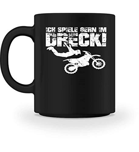Chorchester Motocross Fahrer spielen im Dreck - Tasse