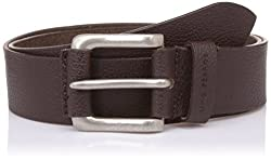 Lino Perros Mens Leather Belt (8903421300440_LMBE00294_Free Size_Brown)