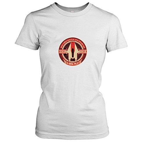 TEXLAB - SW: A-Wing Rebel Pilot - Damen T-Shirt, Größe XL, weiß