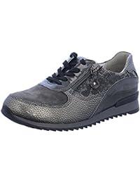Waldläufer 370013-406-006 - Zapatos de cordones de Piel para mujer, color gris, talla 40