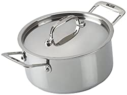 Alda Stainless Steel Casserole with Lid, 20cm, Set of 3, Silver