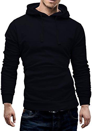 Merish-Felpa-con-Cappuccio-Uomo-Maglione-con-cappucciocon-Tasca-a-marsupioTaglio-classico-SlimFit-Sweatshirt-210-Blu-scuro-S