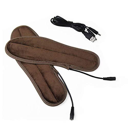 USB calefacción Plantillas calefactables fußbett schuheinlagen espolón calcáneo Cojín para talón talón térmica Plantillas cálido guantes Invierno 39-40 EU