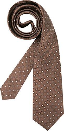 Hugo Boss Herren Krawatte Herren-Accessoire Gemustert, Größe: Onesize, Farbe: Braun