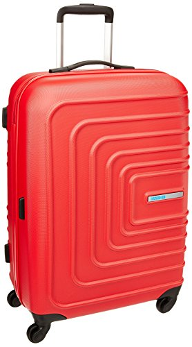 American Tourister Sunset Square ABS 67 cms Red Hard Sided Suitcase (AMT SUNSET SQUARE SP67 RED)