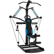 CAPITAL SPORTS Hawser Máquina de entrenamiento multifunción profesional (Banco musculación cuerpo entero, poleas con