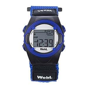 WobL Watch Blu- Orologio Bambino Sportivo Digitale con Cronometro Allarme Vibrazone per Ragazzi e Bambini, aiuta a scuola, aiuto promemoria, aiuto vasino