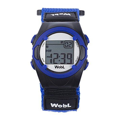 WobL Watch Azul- Reloj con 8 alarmas o vibraciones, recordatorio, para controlar el paso de ir al baño con WC