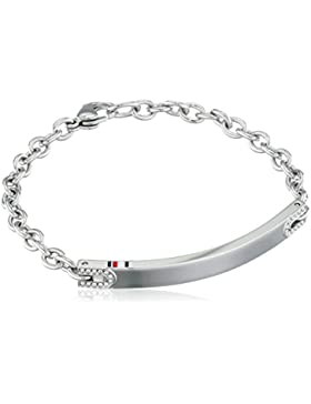 Tommy Hilfiger Damen-Armband Edelstahl Zirkonia weiß 17 cm - 2700913