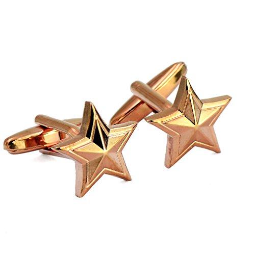 ENVIDIA étoile Militaire général Badge Emblème Boutons de Manchette Cadeaux de fête de Mariage avec boîte