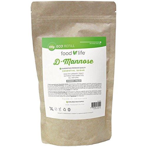 D-Mannosio in polvere | Confezione per 2 mesi, 100 g | Assolutamente puro | Vegano | Senza additivi | Certificazione ISO | Supporto naturale per la vescica femminile