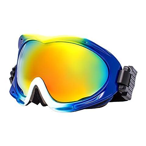 Jimmy orange Herren Damen Polarized Lens Fashion snow-skiing Brillen Anti-Fog Skibrille johxj, Herren, Gelb / Weiß