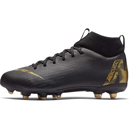 Nike Unisex-Kinder Superfly 6 Academy MG Fußballschuhe, Schwarz (Black/MTLC Vivid Gold 077), 37 EU (Gold Kinder Fußballschuh)