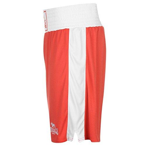 Lonsdale-Pantaloncini da allenamento, da boxe Pantaloni sportivi Gym Wear Rosso/Bianco