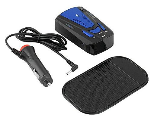 LIKECAR 360 Grad Alarmspracherkennung Radarwarner Auto Anti-Polizei für eine begrenzte 16-Band-Radarwarner Auto-Geschwindigkeit