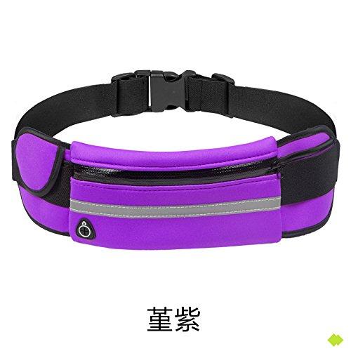 Multifunktionale Taille Tasche, Laufen Üben, Handtasche, Outdoor, Wasserdichte Multifunktions - lila stiefmütterchen
