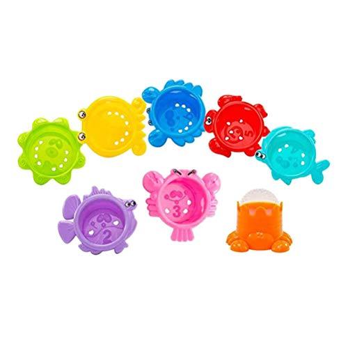 Toyvian Meer Tier Baby Badespielzeug 8 Stücke Stacking Cup Bathtime Spaß Spielzeug