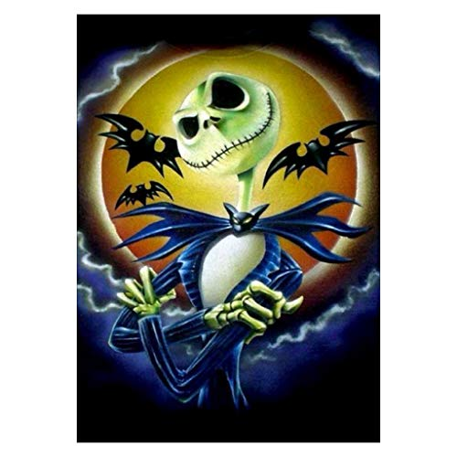ull Malerei,Halloween A097 DIY Stickerei Painting Kreuz Stich Diamond Dekoration ()