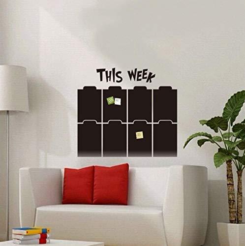 Dalxsh 50X57 Cm Kreide Bord Tafel Aufkleber Abnehmbare Zeitplan Wandaufkleber Für Kinderzimmer Abnehmbare Dekor Wandtattoo Kunst Tafel