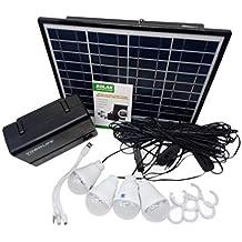 sdfghzsedfgsdfg Kit Cargador Sistema casero del USB del Panel Solar de energía de Almacenamiento Generador de