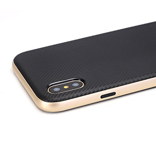 Case für Apple iPhone X / iPhone 10 5.8 Zoll Handyhülle Hardcase Carbon-Optik Bronze